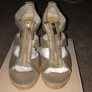 Michael Kors Damita Wedge Gold/ Metallic